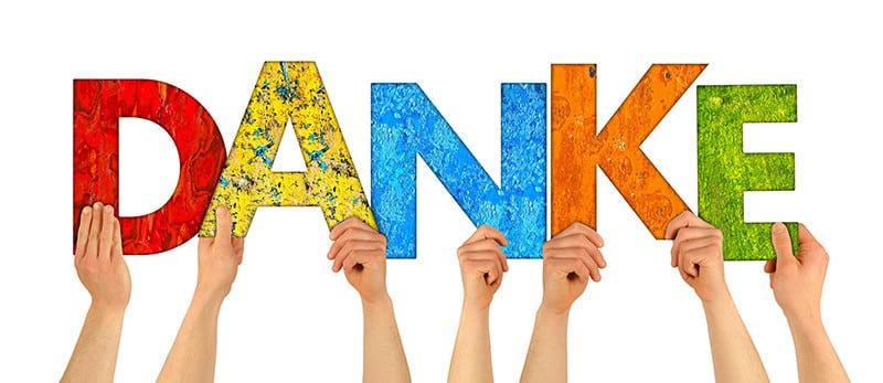 Danke an unsere Kunden für die guten Bewertungen!