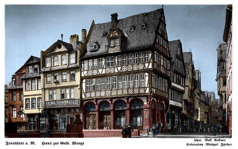 Das Haus zur Goldenen Waage – prächtiger Fachwerkbau in Frankfurts Altstadt