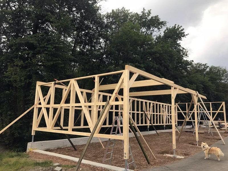 Doku Teil 01: Bau einer Maschinenlagerhalle 70m
