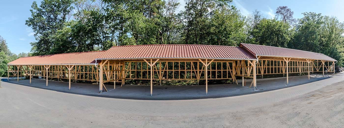 Bau einer Maschinenlagerhalle in Bad Homburg