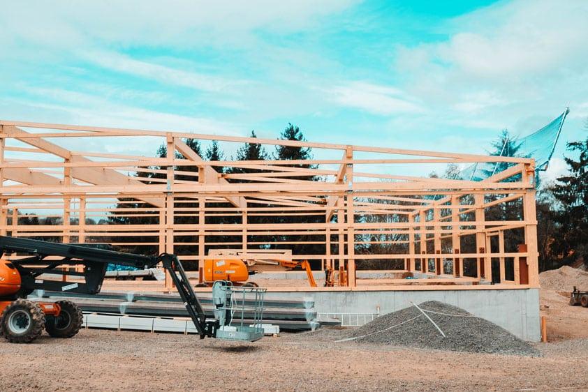 Fotodokumentation: Bau einer Reithalle in Vogelsberg, Hessen
