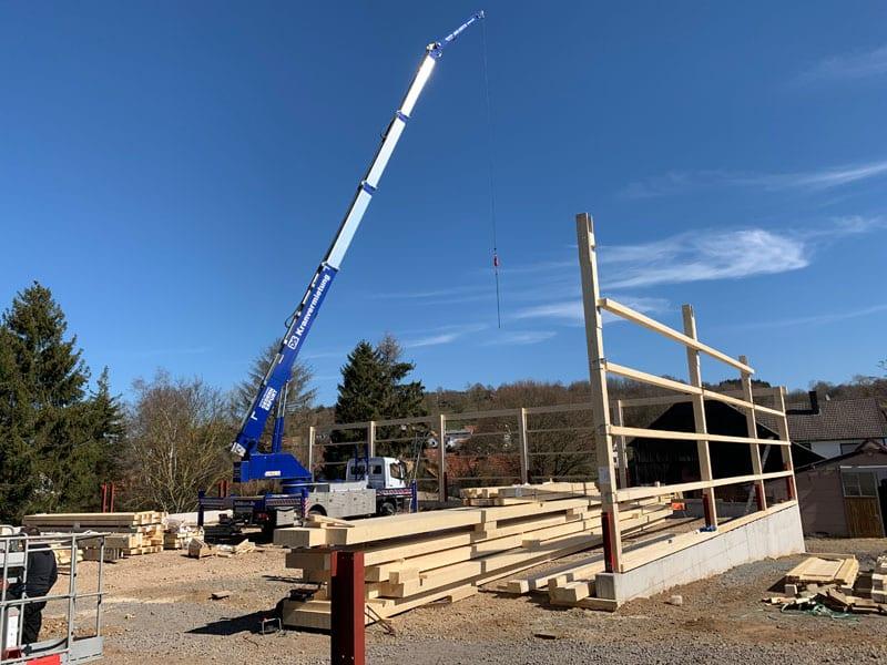 Bau einer Reithalle